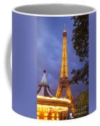 Carousel And Eiffel Tower Coffee Mug
