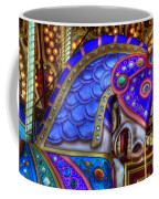 Carousel Beauty Blue Charger Coffee Mug