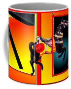 Carousel Horse Fireman 04 In Teal Coffee Mug