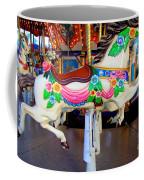 Carousel Horse With Flower Drape Coffee Mug