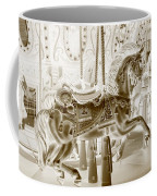 Carousel In Negative Sepia Coffee Mug