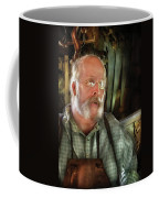Carpentry - The Carpenter And His Workshop Coffee Mug by Mike Savad
