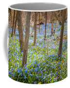 Carpet Of Blue Flowers In Spring Forest Coffee Mug