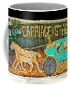 Carriage And Stagecoach Sign Coffee Mug
