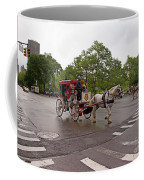 Carriage Ride In Central Park Coffee Mug