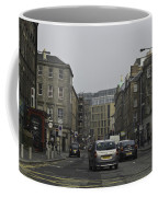 Cars And Buildings On The Streets Of Edinburgh Coffee Mug