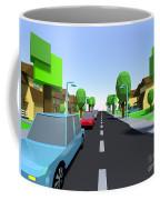 Cars Driving Suburban Streets   Coffee Mug