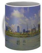Cartoon - Buildings And Bridge On The Marina Reservoir Coffee Mug