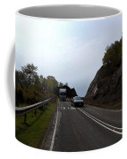 Cartoon - Car And Truck Crossing A Road Repair Section Of Highway In Scotland Coffee Mug