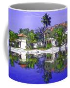 Cartoon - Cottages And Lagoon Water Coffee Mug