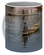 Cartoon - Kashmiri Men Rowing Many Small Wooden Boats In The Waters Of The Dal Lake Coffee Mug