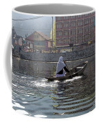 Cartoon - Light Following This Lady On A Wooden Boat On The Dal Lake In Srinagar Coffee Mug