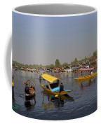 Cartoon - Multiple Number Of Shikaras On The Water Of The Dal Lake In Srinagar Coffee Mug