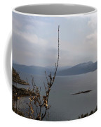 Cartoon - Plants In Front Of The Waters Of A Lake In The Scottish Highlands Coffee Mug
