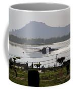 Cartoon - Shalimar Garden - The Dal Lake And Mountains In The Background In Srinagar Coffee Mug