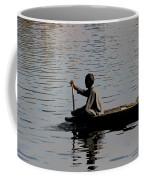 Cartoon - Splashing In The Water Caused Due To Kashmiri Man Rowing A Small Boat Coffee Mug