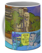 Cartoon - Statue Of The Merlion With A Banner Below The Statue Coffee Mug