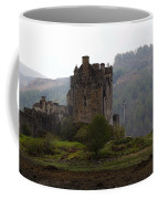 Cartoon - Structure Of The Eilean Donan Castle In Front With Dry Part Of Lake Coffee Mug