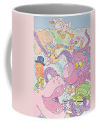 Cartoon Sea Creatures Coffee Mug