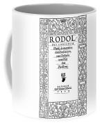 Cartouche, 1529 Coffee Mug