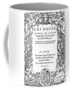 Cartouche, 1551 Coffee Mug