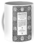 Cartouches, 1534 Coffee Mug
