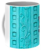 Carved Turquoise Door Coffee Mug