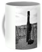Carved Wine Bottle And Wine Glass Coffee Mug