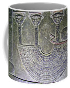 Carving Like Cleopatra's Necklace In A Crypt In Temple Of Hathor Near Dendera-egypt Coffee Mug by Ruth Hager