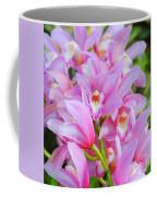 Cascade Of Pink Orchids Coffee Mug