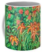 Cascading Day Lilies Coffee Mug