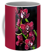 Cascading Red Orchids Coffee Mug