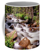 Cascading Rocky Mountain Forest Creek Coffee Mug