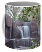 Cascading Waters At The Roosevelt Memorial Coffee Mug