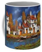 Case Bianche Sul Fiume Coffee Mug by Guido Borelli