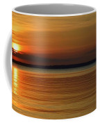Cast Away - Young Child Fishing From A Pier On The Indian River Bay As The Sun Sets Across The Water Coffee Mug