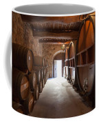 Castelle Di Amorosa Barrel Room Coffee Mug by Scott Campbell