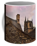 Sunset At Castle Comb Church - Wilshire England Coffee Mug