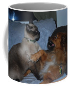 Cat And Dog Fight Coffee Mug