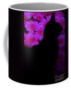 Cat And Flowers Midnight Silhouette Coffee Mug