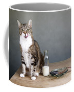 Cat And Herring Coffee Mug