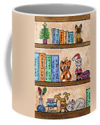 Cat Chrismas Shelves Coffee Mug