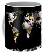 Cat Eyes World Map 2 Coffee Mug