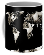 Cat Eyes World Map Coffee Mug