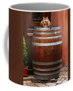 Cat Guarding A Wine Barrel In Alsace Coffee Mug