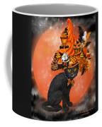 Cat In Halloween Cupcake Hat Coffee Mug