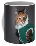 Cat In Patrick's Coat Coffee Mug