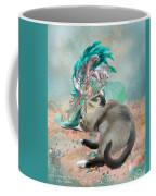 Cat In Summer Beach Hat Coffee Mug
