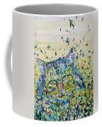 Cat In The Grass Coffee Mug