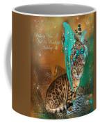 Cat In The Leopard Trim Santa Hat Coffee Mug